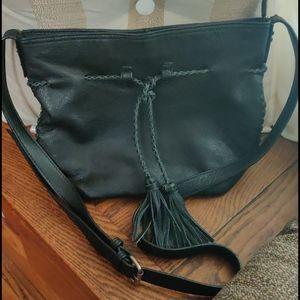 Lucky Brand**leather tassel crossbody